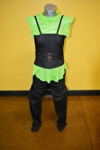 Green and Black Overall Costume
