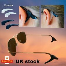 2 PAIRS GLASSES EAR HOOKS ANTI SLIP SILICONE RETAINER FOR GLASSES
