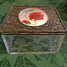 Antique crystal glass box