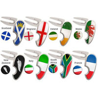 ASBRI PITCHMASTER GOLF DIVOT TOOL AND MARKER. NATIONAL FLAG, SMILEY OR NOVELTY