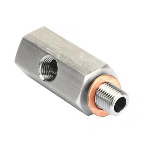 NPT Oil Pressure Sensor Tee 1/8 NPT Adapter Turbo Supply Feed Line Gauge M10X1.0