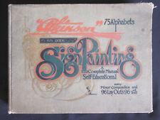 1900 ATKINSON Sign Painting Complete Manual Catalog Book with 96 Layouts