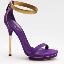 Authentic RARE Gucci Scamosciato Pitone Gold Heel Size 41.5 (10 US)