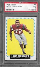1964 Topps #8 LARRY EISENHAUER Patriots PSA 7 NM