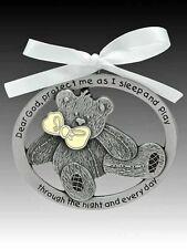 Teddy Bear Crib Medal Glow in the Dark (CM17G) Pewter NEW 2.5 Inches