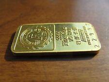Hong  Kong Hang Sang Bank ENGELHARD Australia 1/5 TAEL Gold Bar GOD OF WEALTH