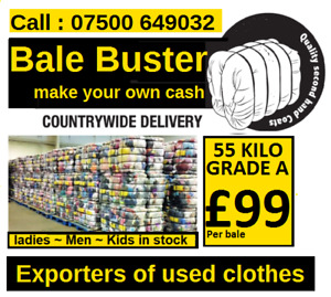Bale Buster !  We are UKs largest and best supplier of used clothes to Africa