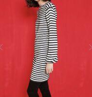 MAJE Rushour Bicolore Striped Lurex Stretchy Mini Dress Sz 1 XS