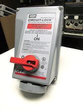 Hubbell Pin & Sleeve Recep. 30A, 3Ph, 480V, 15Hp Cat# HBL430M17W (Chip).  UJ-51A