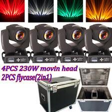 4PCS 7R sharpy 230W Moving Head Beam Light 16+8 prism dj stage lighting+Fly Case
