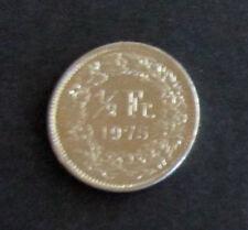 Münze 1/2 Schweizer Franken 1975 aus Umlauf gültiges Zahlungsmittel Sammler