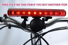 KIDDIES BIKE ELECTRIC HORN + 10 LED LIGHTS & 4 SIRENS IDEAL BIRTHDAY PRESENT