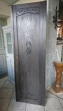 alte Jugendstil Schranktüre Türe antik Massivholz 180 cm hoch