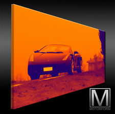 Poster & Bilder Accessoires & Fanartikel Ferrari F430 Echte Leinwand Bild Canvas Art Kunstdruck Leinwandbild Lounge Kunst
