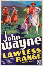 Lawless range John Wayne 1935 cult western movie poster print