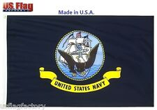 US Flag Factory 2'x3' US Navy Outdoor SolarMax Nylon Flag