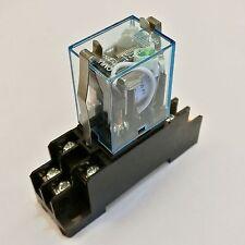 US Stock Omron MY2N-J MY2NJ HH52P-L 110V AC Coil Cube Relay & PYF08A Socket Base