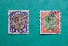 Stamp Denmark Danmark 1913 Sg#171-172. King Christian. Fine used. #Od113