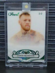 2018-19 Leaf Pearl Conor McGregor Pearl Relic Card #1/2 UFC O62