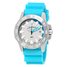 Nautica NSR 20  Sports Silver Dial Blue Silicone Mens Watch NAI12531G