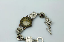 Signed N. Andersen Sterling Silver band,  Relic Wristwatch (BR2425)
