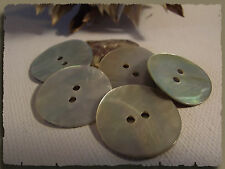 5 BOUTONS Nacre naturel 23 mm 2,3 cm  2 trous Button sewing