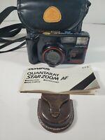 2002 Olympus Quantaray Starzoom AF 35mm Film Camera, Case, Instructions. Exc.
