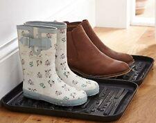 Set Of 2 Muddy Boot & Shoe Drip Trays Tidy Rack Wellies Wellington Gardening
