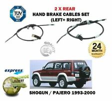 FOR MITSUBISHI SHOGUN PAJERO 2.8TD 3.0 3.5 1993-> 2X LEFT RIGHT HAND BRAKE CABLE