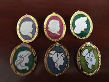 DISNEY PINS PRINCESS CAMEO Silhouette Sparkle Pins-6 PINS as shown in picture