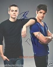 "Tyler Posey & Dylan O'Brien Teen Wolf MTV Show RP 8x10"" Signed Autographed Photo"