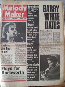 Melody Maker Apr 12th '75 - Cockney Rebel Who Tommy Led Zeppelin Slade SAHB