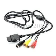 6 ft AV TV S-Video SAV CABLE cord for Super Nintendo Gamecube 64 SNES NGC N64