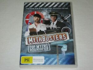 Mythbusters - Top Myths Declassified - Brand New & Sealed - Region 4 - DVD