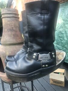 Vintage harley davidson Ladies Size 5 Motorctcle Biker Cowboy Black Leather