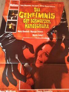 Das Geheimnis der schwarzen Handschuhe (Edgar Wallace, Dario Argento, Plakat)