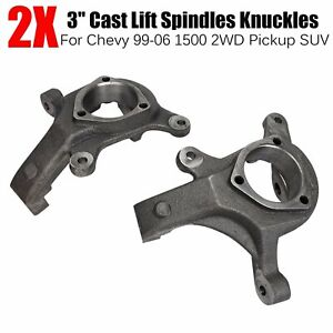 """3"""" Front Lift Spindles Suspension Level Kit For 99-06 Chevy 1500 2WD Pickup SUV"""