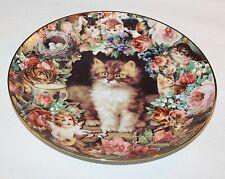 Victoria Howard Picture Purrfect Cat Plate Danbury Mint Victorian Cats 1995