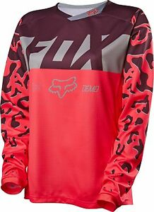 Fox Racing Womens Demo DH Long Sleeve L/S Jersey Neo Red