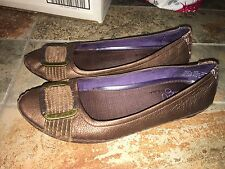 Indigo by Clarks Bronze Ballet Flats / loafers womens shoes Sz 5.5 M