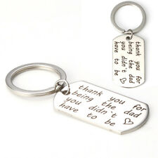 Thank You for Being The Dad You Didn't Have To Be Stainless Letter Key Chain TR