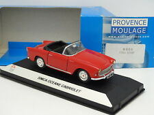 Starter N7 Provence Resina 1/43 - Simca Oceane Cabriolet Rojo