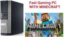 Gaming PC DELL Desktop INTEL DualCore 4GB RAM 250GB WIFI HDMI MINECRAFT READY