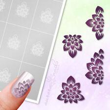 Schablonen Airbrush + Nailart SET83 Blumen Blüten Blätter Floral selbstklebend