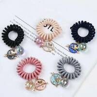 Korean Elastic Hair Band Ponytail Holder Cute Phone Line Rope Women Scrunchie l