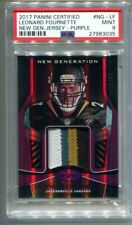 2017 Panini Certified Leonard Fournette Purple Rookie Patch 2/10 PSA 9