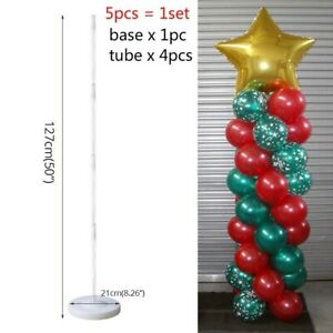 Plastic Balloon Arch Column Stand with Base Kits Wedding Birthday Party Decor EN