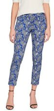 NWT Banana Republic Women Size 0P Sloan Paisley Slim Ankle Pant $79.99 Blue Mult