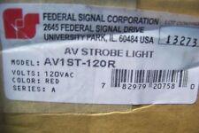 NIB AV1ST-120R Federal Signal Light/Sounder Combination Strobe 120VAC