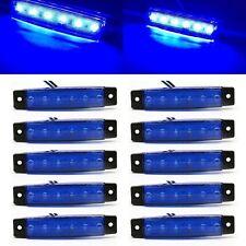 10x Blue 6 LED Side Marker Indicators Lights for Car Truck Trailer Bus Lamp UK
